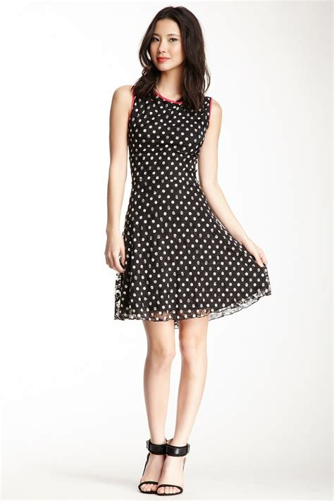 Dress Lace Polka b polka dot lace dress girly 101