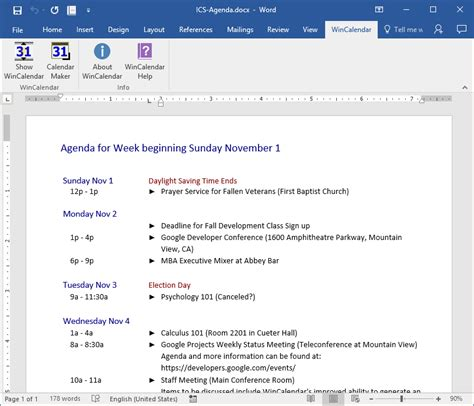Icalendar File Convert Icalendar Ics To Excel And Word