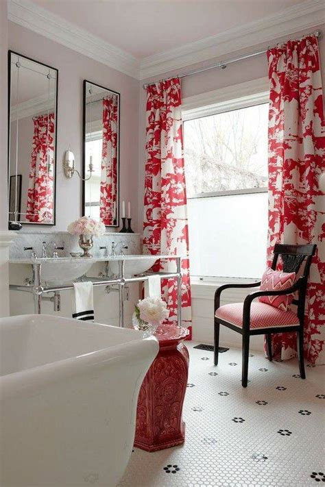 red bathroom window curtains 10 modern bathroom window curtains ideas 187 inoutinterior