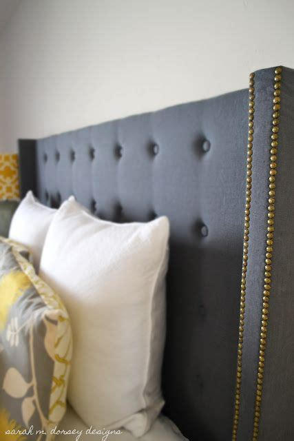 Diy Studded Headboard Diy Tufted Wingback Headboard Definitely Want To Make This For Our Master Bedroom Master