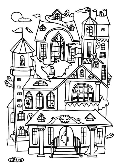 coloring pages big house 30 haunted house coloring pages coloringstar