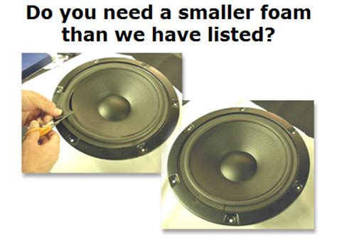 how to find a smaller foam speaker exchange
