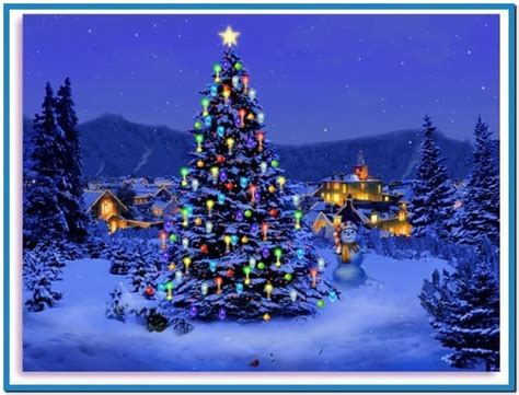 christmas tree screensaver animation download free