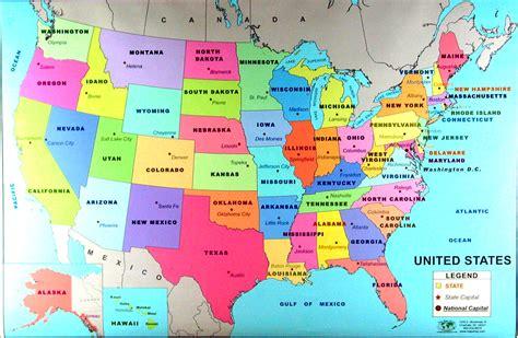 map usa states and capitals us states capitals map contrast de nugent