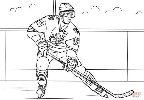 hockey coloring pages of sidney crosby jonathan toews coloring page free printable coloring pages