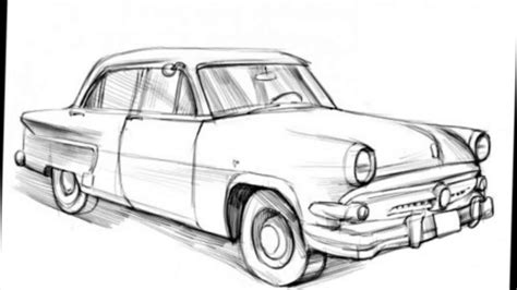old cars drawings how to draw a classic car youtube