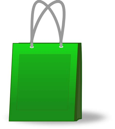 shopping bags green shopping bag clip art at clker com vector clip art