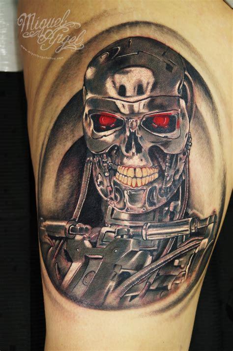 terminator tattoo terminator 169 miguel custom artist www