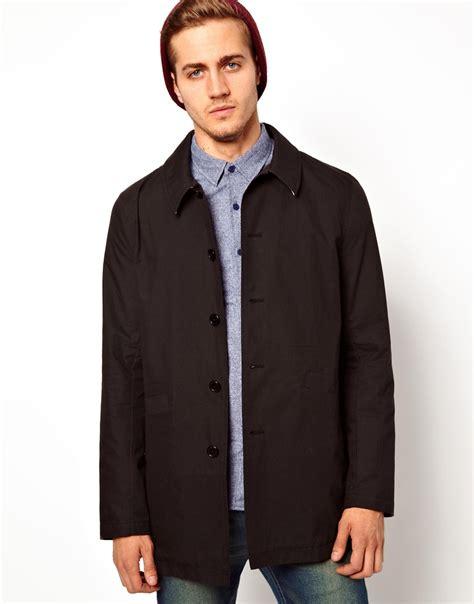 Asos Longline Classic Mac mens trench coat uk asos tradingbasis