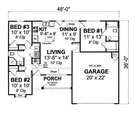 1000 Sq Ft House Plans 3 Bedroom 17 Best Images About House Plans On Pinterest Small