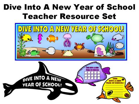 new year teaching resources dive into a new year of school resource set