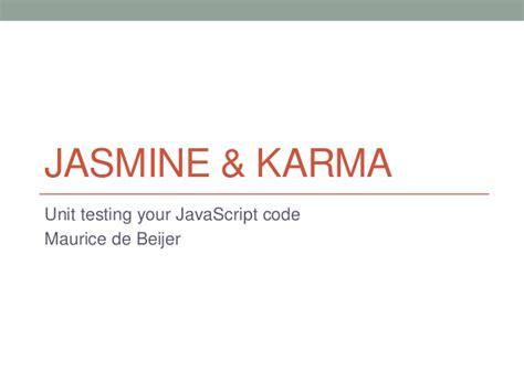 jasmine tutorial javascript testing unit testing javascript jasmine karma intro