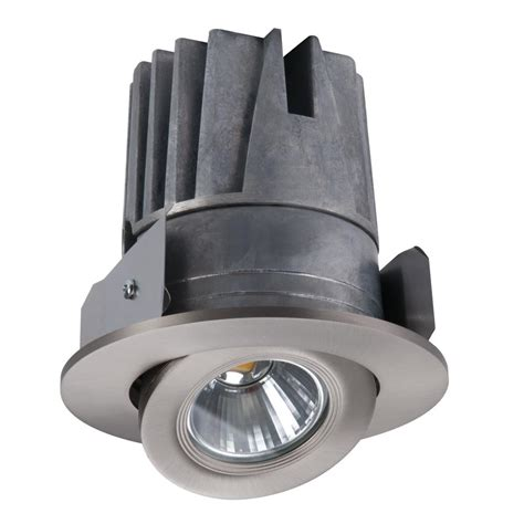 halo h4 led recessed light halo 4 in satin nickel gimbal trim and light engine