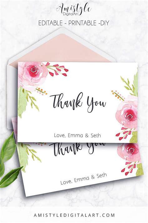 Thank You Card Printable Pdf