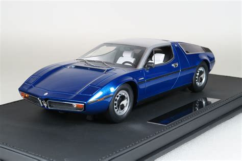Bora Maserati by Top Marques Collectibles Maserati Bora 1 18 Blau Top25b