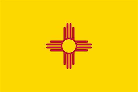 new mexico state colors and yellow state symbols usa