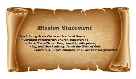 mission statement covenant presbyterian church sherman tx
