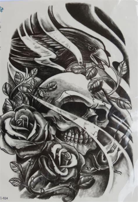 henna tattoos dangerous waterproof temporary dangerous skull big