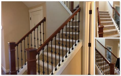 wooden stair banisters and railings modern wood stair railings home design by larizza