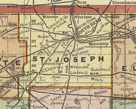 St Joseph County Indiana Property Records Osceola Indiana Map Indiana Map