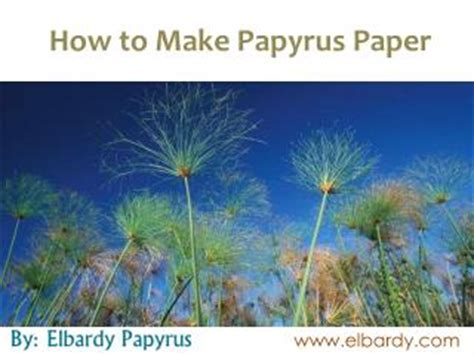 How To Make Paper Out Of Papyrus - ppt alu and the papyrus powerpoint presentation id 1946195