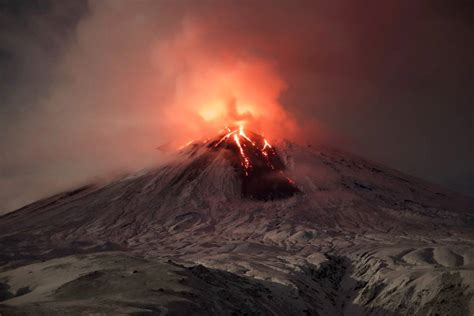 Volcano L by Continuing Eruption Of Shiveluch Volcano Earth Chronicles News
