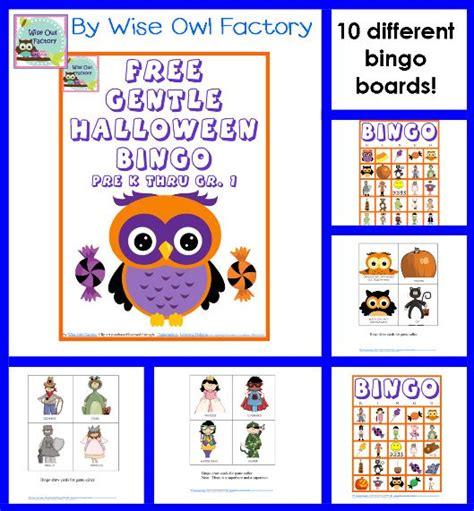 printable bingo games for kindergarten free gentle halloween bingo game for pre k through grade 1