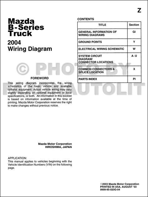 best auto repair manual 2004 mazda b series plus windshield wipe control 2004 mazda b series pickup truck wiring diagram manual original b2300 b3000 b4000