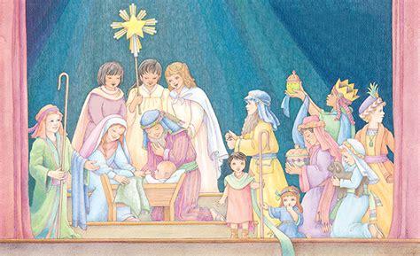 nativity children children reenact the nativity
