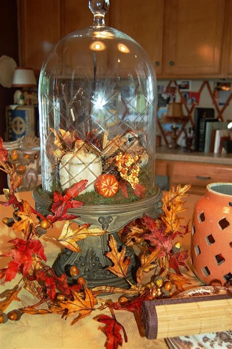 southern living fall decor cloche with autumn decor fall fall fall