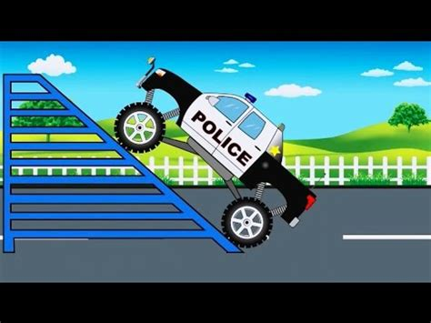 monster truck tv show police monster truck monster trucks for children by kids