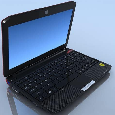 Laptop Acer One 200 notebook acer 200 3d model