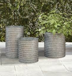 25 best ideas about metal planters on flower