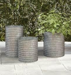 galvanized metal planter 17 best ideas about galvanized planters on