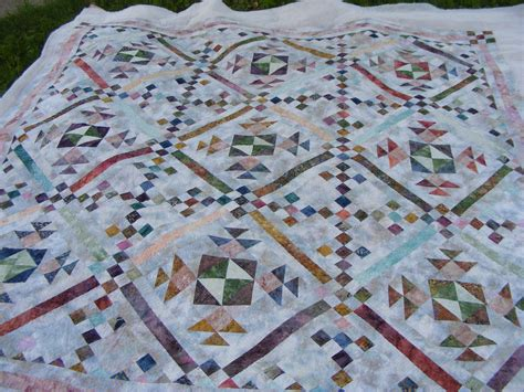 batik quilt with quilting finished page 2