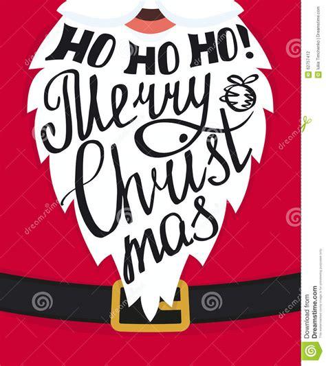 Handmade Lettering - handmade lettering on the santa claus white beard