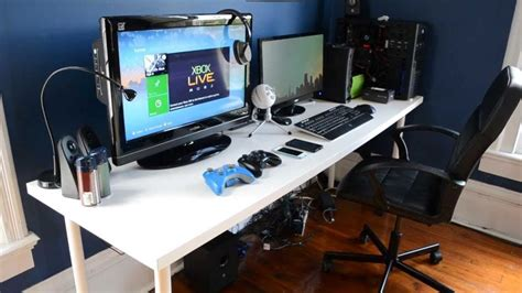 gaming desk setup 2013 room gaming