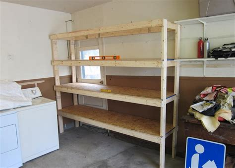 pdf diy simple wooden garage wall shelves garage