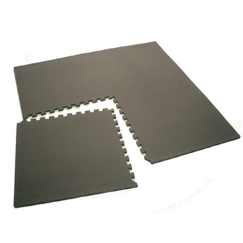 shop gray anti fatigue mat common 4 ft x 4 ft actual