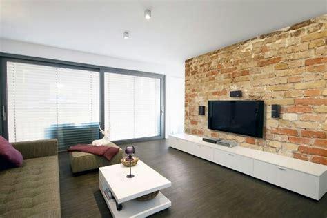 Wohnideen Steinwand by Steinwand Tv Wohnung Tvs