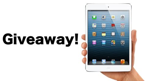 and the winner of our ipad mini giveaway is top mobile trends - Free Ipod Giveaway