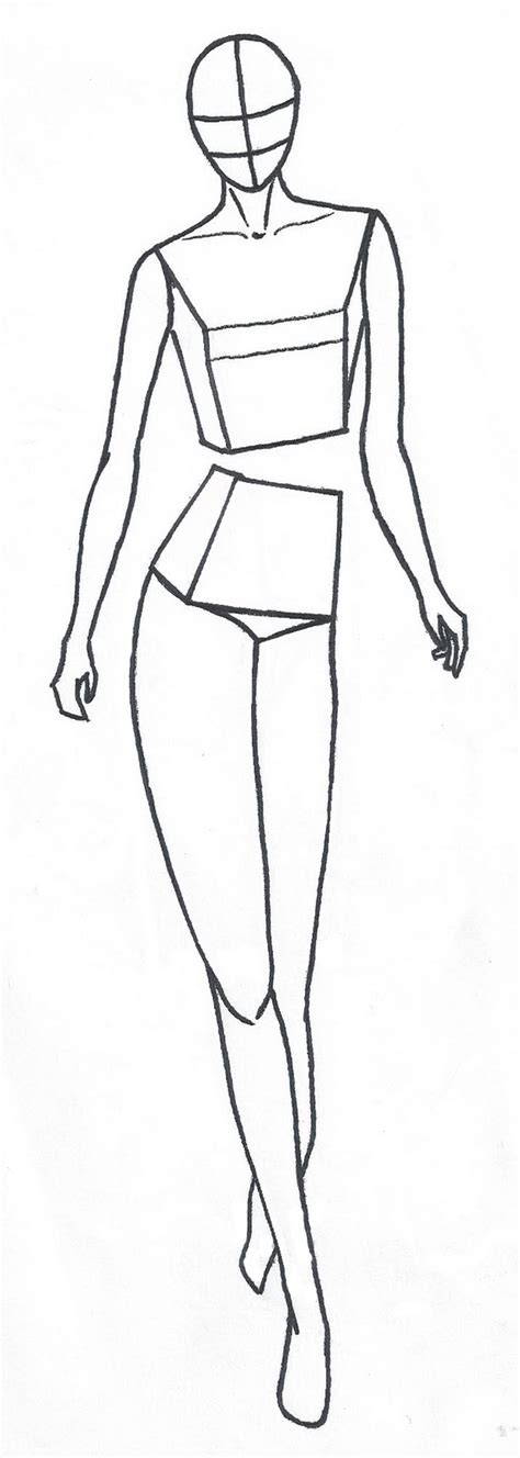 mannequin drawing template www pixshark com images