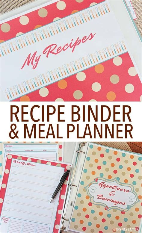 make your own recipe cards make your own recipe binder meal planning organizer