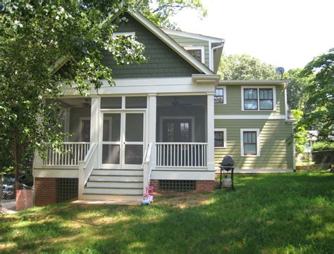 american small house renovation rear elevation after