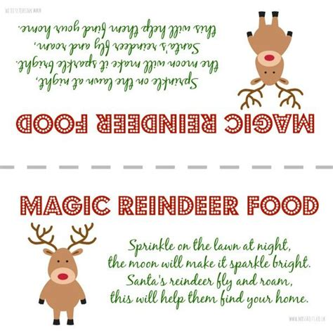 printable reindeer food labels best 25 reindeer food ideas on pinterest reindeer food