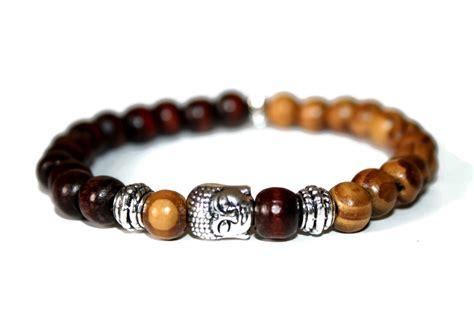 Buddha Bracelet Wood Bracelet Buddhist Jewelry By Zendelux