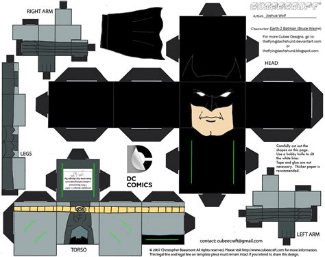 Papercraft Batman - dcnu23 earth 2 batman cubee by theflyingdachshund on