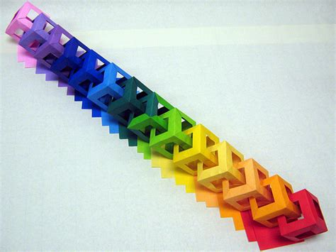 Origami Paper Chain - chain of 14 cubes 4 flickr photo