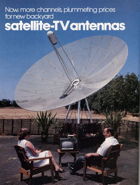 now more channels plummeting prices for new backyard satellite tv antennas modern mechanix