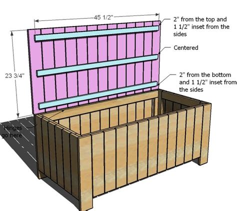 wood bench with storage plans ana white outdoor storage bench diy projects
